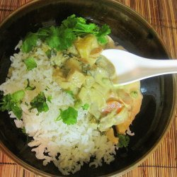 Yellow Curry Chicken Soup