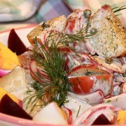 Red Potato Salad With Radishes