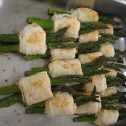 Phyllo Wrapped Cheesy Asparagus