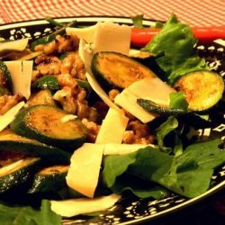 Zucchini, Walnut and Parmesan Salad