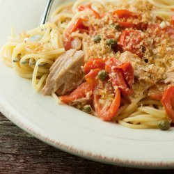Pasta With Tuna Tomatoes and Capers