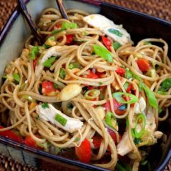 Chicken Noodle Salad With Peanut Dressing