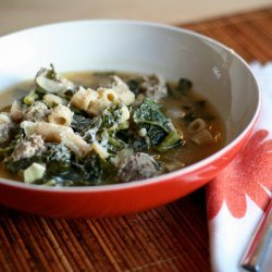Lamb Meatball and Bean Soup
