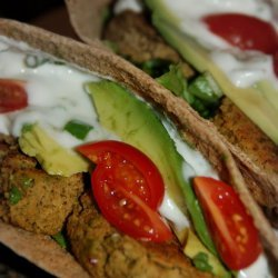 Baked Falafel Sandwiches With Yogurt-Tahini Sauce