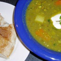 Punjabi Pea and Mint Soup recipe