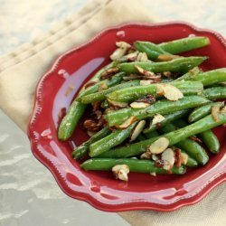 Green Beans W/ Bacon and Almonds