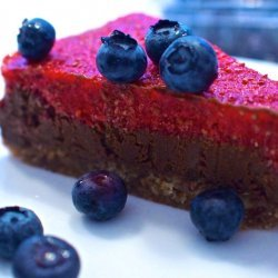 Raw Chocolate Cake with Raw Chocolate Mousse Topping