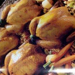 Cornish Hens With Cornbread Stuffing