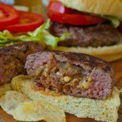 Cheese-Stuffed Bacon Burgers