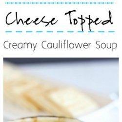 Swiss-Topped Cauliflower Soup