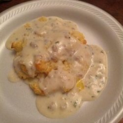 Onion and Chive Biscuits and Gravy