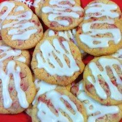 Almond Glazed Cherry Chip Sugar Cookies recipe