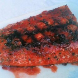 Raspberry Chipotle Grilled Salmon- so Easy-- recipe