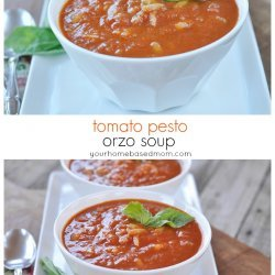 Creamy Tomato Basil Soup With Cheddar Croűte Recipe - Details ...