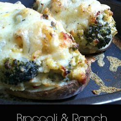 Broccoli and Ranch Baked Potatoes
