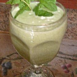 Custard Apple & Garden Mint Smoothie
