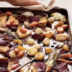 Balsamic Roasted Root Vegetables With Rosemary