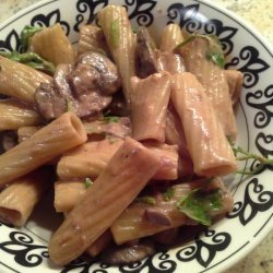 Pasta With Mushroom Wine Sauce