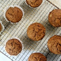 100% Whole Wheat Pumpkin Muffins