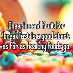 Cheerios with Fruit Breakfast