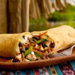 Barbecued Chicken Burritos