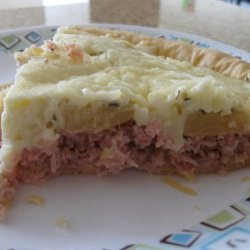 Ham-Tomato-Pineapple-Cheese Pie