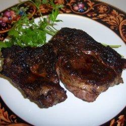 Cast Iron Grilled Chuck Eye (Poor Mans Rib-Eye) Steaks W/Spicy R