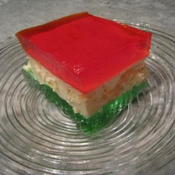Classic Holiday Ribbon Squares (Jello)