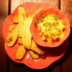 Plantain Chips With Mango Salsa