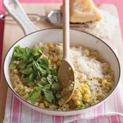 Barley Risotto With Corn and Basil