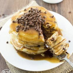 Chocolate Chip Pancakes (with Butter)