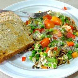 Egg White Veggie Omelette