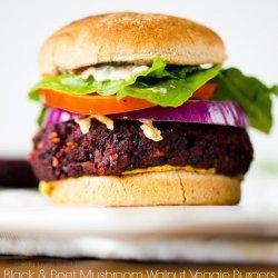 Mushroom and Walnut Veggie Burgers