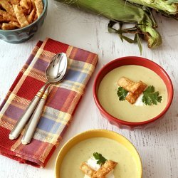 Fresh Corn and Poblano Soup
