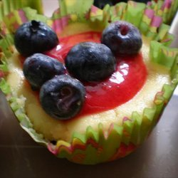 Cheesecake Cupcakes With Raspberry Sauce