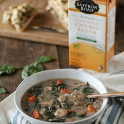 Chicken and Spinach Wild Rice Soup