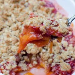 Strawberry-Peach Crisp