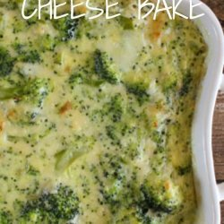 Baked Broccoli & Cheese