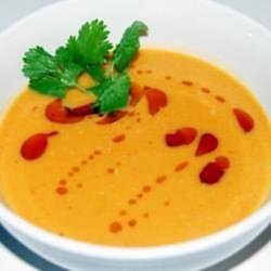 Spicy Sweet Potato and Coconut Soup