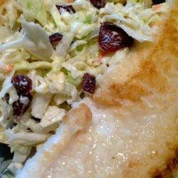 Tilapia Sandwich W/Dried Cranberry Coleslaw & Lemon Dill  Ai