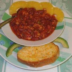 Pineapple Salsa Pork Chili