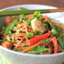 Thai Coconut Noodles With Chicken
