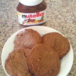 Bakery Style Cocoa Chocolate Chip Cookies (Nutella)