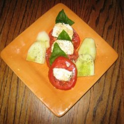 Tomato Lemon Basil and Goat Cheese Salad