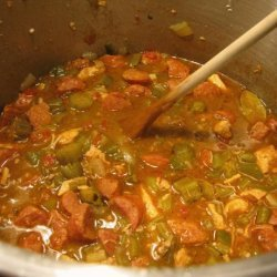 Rho's Chicken & Sausage Gumbo recipe