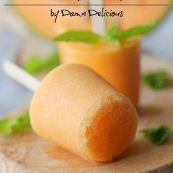 Cantaloupe Popsicles