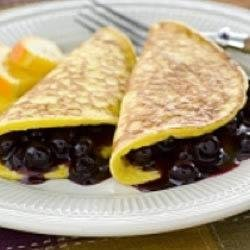 Blueberry Fold Over Pancakes