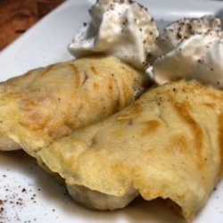 Beer Batter Crepes with Banana Cream Cheese Filling