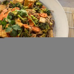 Broccoli and Tofu with Spicy Peanut Sauce
