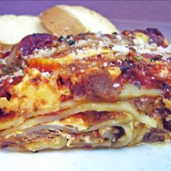 Cheese Steak-Yumm Lasagna With the Works! recipe